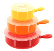 Microwaveable Kitchen Triple Colours Containers - 3 Pot Set.