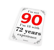 Birthday I'm Not 90 Funny 90th Cute Fridge Magnet