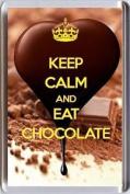 Keep Calm And Eat Chocolate Fridge Magnet Unique Christmas Birthday Idea