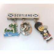 Scottish Metal Charm Dangly Fridge Magnet