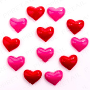 12 X Magnetic 3d Hearts Kitchen/office Decoration Memo/message/n