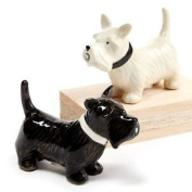 Twos Company Puppy Love Ceramic Magnetic Salt And Pepper Set