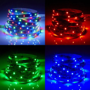 Biard 5m 12V 3528 LED Strip Light - RGB Colour Changing - Indoor IP20 Non-Waterproof - Cabinet, Bedroom, Study, Shop, Retail, TV Lighting Decoration