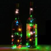 Led Light, Ulanda-EU Solar Wine Bottle Cork Shaped String Light 10 LED Night Fairy Light Lamp Multicolor