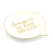 Speech Bubble Trinket Dish 'Love You To The Moon'