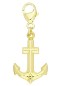 MyGold Anchor Pendant (Chain Not Included) Yellow Gold 8 Carat 333 Gold Charm 27 mm x 11 mm Gold Necklace Amalfi Mod 03985