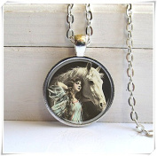 Horse Necklace, Beauty With Horse, Horse Art Pendant,