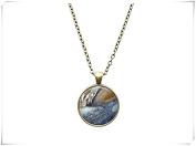 Galaxy jewellery Astronomy necklace Jupiter texture pendant
