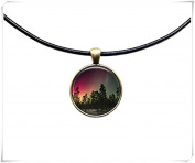 Galaxy jewellery Astronomy necklace Aurora pendant