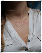 Dainty Gold Necklace, Gold Nugget Necklace, Station Nuggets Necklace