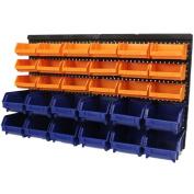 Large 30pce Storage Bin/tub Kit Wall Mount Garage/warehou