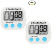 Stlstt Digital Kitchen Cooking Timer - Large Lcd Display, Big Digits, Loud Stand