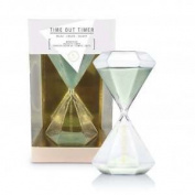 We Live Like This Glass Sand Timer - Time Out Clock Stopwatch - New Gifts
