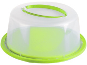 "Plastic 12""/34 Cm Bell Cake Display Cheese Dome Cover With Lockable Lid Storage"