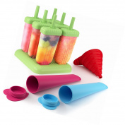 6x Silicone Ice Cream Lolly Yoghurt Pole Mould Lollies Maker Push Up Lolly Mould