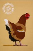 New Ulster Weavers Martin Wiscombe Penny Hen Chicken Cotton Tea Towel