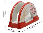 Souvnear 12.7 Cm Round Ceramic Napkin Holder - Decorative Centrepiece Napkin