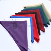 60cm X 60cm Polyester Cotton Napkins For Wedding Table Cloth Linen Dinner Napkin