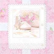 16 Tiny Pink Blessing Serviettes Luncheon Napkins 24.7cm X 24.7cm Christening