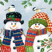 Ambiente 3 Ply Paper Lunch Napkins Serviettes Christmas Snowman Couple Xmas Cute