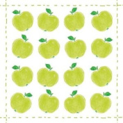 "Apple Repeated Print Green 3-ply 20 Paper Napkins Serviettes 13""x13"" - 30x30cm"