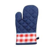 Denim Style Navy Blue Cotton Mitt Oven Gloves Kitchen Linen Cooking Ko2068