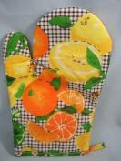 Patterned Kitchen Oven Glove, 'florence Range' New,