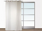 Danube Plain White Suedette Curtain, By Soleil D'ocre