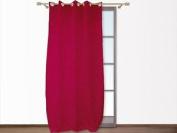 Croco Fuchsia Embossed Eyelet Curtain 140x250 Cm