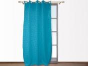 Croco Turquoise Embossed Eyelet Curtain 140x250 Cm