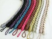 Knightsbridge Thick Satin Rope Design Curtain Tie Backs - Sold Individually