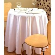Stalwart Ce497 Tablecloth, Damask Ivy Leaf, Round, 170cm , White