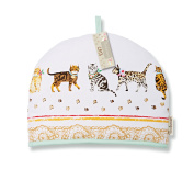 Cooksmart Cats On Parade Tea Cosy Teapot Pot Cover Warmer Cotton Insulated