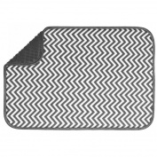 Chevron Absorbent Microfibre Dish Drying Mat Rack Drainer Kitchen Sink Towel