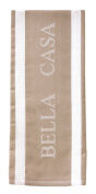 Ladelle Single Bella Casa Latte Beige White Tea Towel Kitchen Drying Cloth New