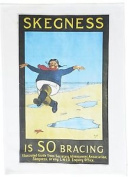 Skegness Is So Bracing – Retro Style Travel Poster Large Cotton Tea Towel By A