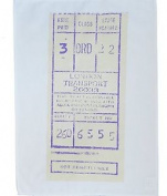 London Bus Ticket Stub Cotton Tea Towel By Half A Donkey
