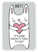 Home & Dry 100% Cotton Tea Towel - Some Bunny's Turn To Dry
