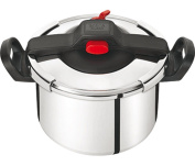 Tefal Clipso Essential Stainless Steel Pressure Cooker With Steam Basket, Easy 6