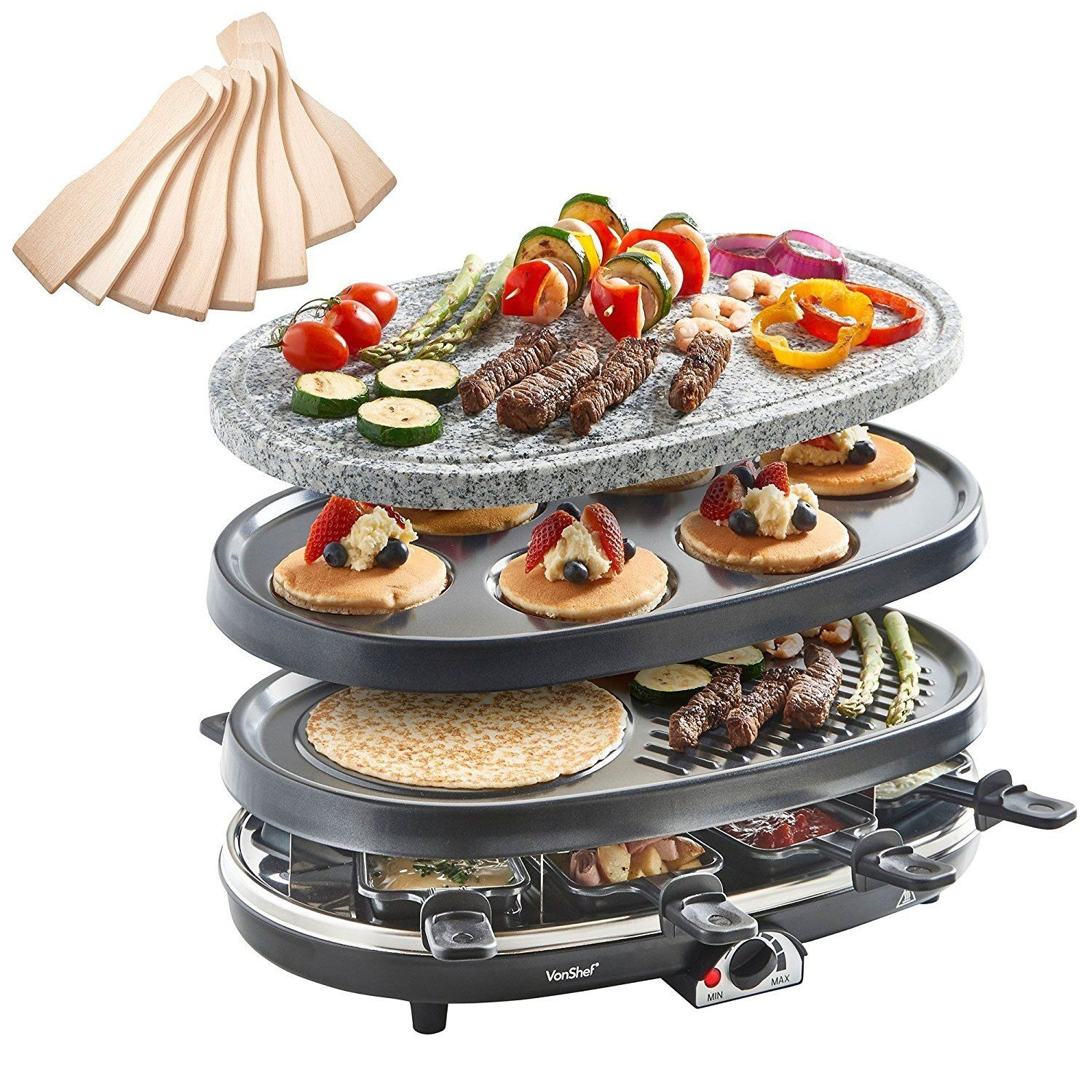 Raclette Grill Australia vonshef 8 person 3 in 1 raclette grill with
