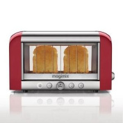 Magimix 2 Slice Vision Toaster Bread Baguettes Tray Kitchen Red 1.45kw