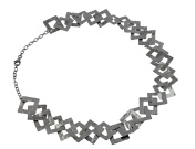 Arfasatti Sterling Silver 925 Necklace Squares Hand Made in Italy