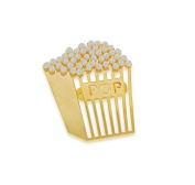 Vanina Women's 18ct Yellow Gold Plated Time for Popcorn Brooch