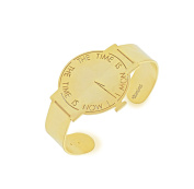 """Vanina Women's 18ct Yellow Gold Plated """"time is now"""" Watch Cuff"""