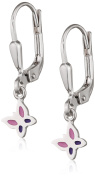 Xaana Favourite Children's Earrings Butterfly 925 Silver Rhodium Plated with AMZ0451