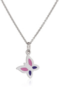 Xaana Children's Necklace with Pendant 925 Silver Rhodium Plated 38 cm Butterfly Kids Favourite – AMZ0449