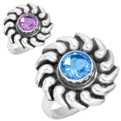 Alexandrite Colour Change Gemstone Handmade Jewellery Solid 925 Sterling Silver Ring Size Q