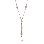 Ornamenta Fashion Beaded Trendy Long Pendant Necklace with Tassels For Girls