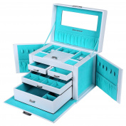 Songmics Jewellery Box Earrings Drawer Jewellery Organiser JBC212L