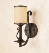 Retro Wall Lamp Iron Lamp Living Room Bedroom Wall Lamp Background Wall Light Bedside Lamp Mirror Front Lamp Aisle Lamp E27 Lamp Mouth